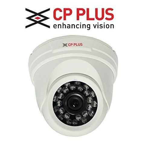CP PLUS 2 HD CCTV Cameras (1MP) with 4Ch. HD DVR Kit with All Accessories