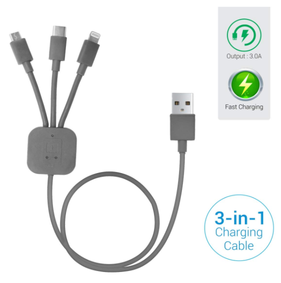 Portronics POR-013 Konnect-Trio 3-in-1 Multi-Functional Cable