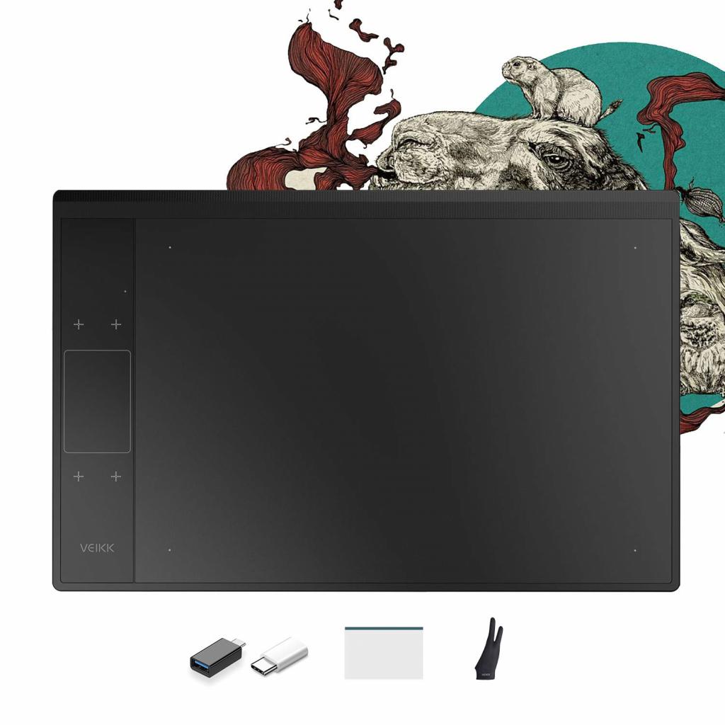 VEIKK A30 V2 Graphic Tablet Drawing Tablet Pen Tablet